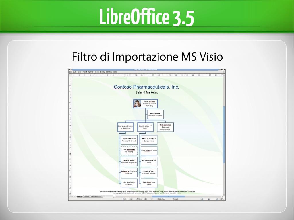 LibreOffice 3.5 Filtro di Importazione MS Visio