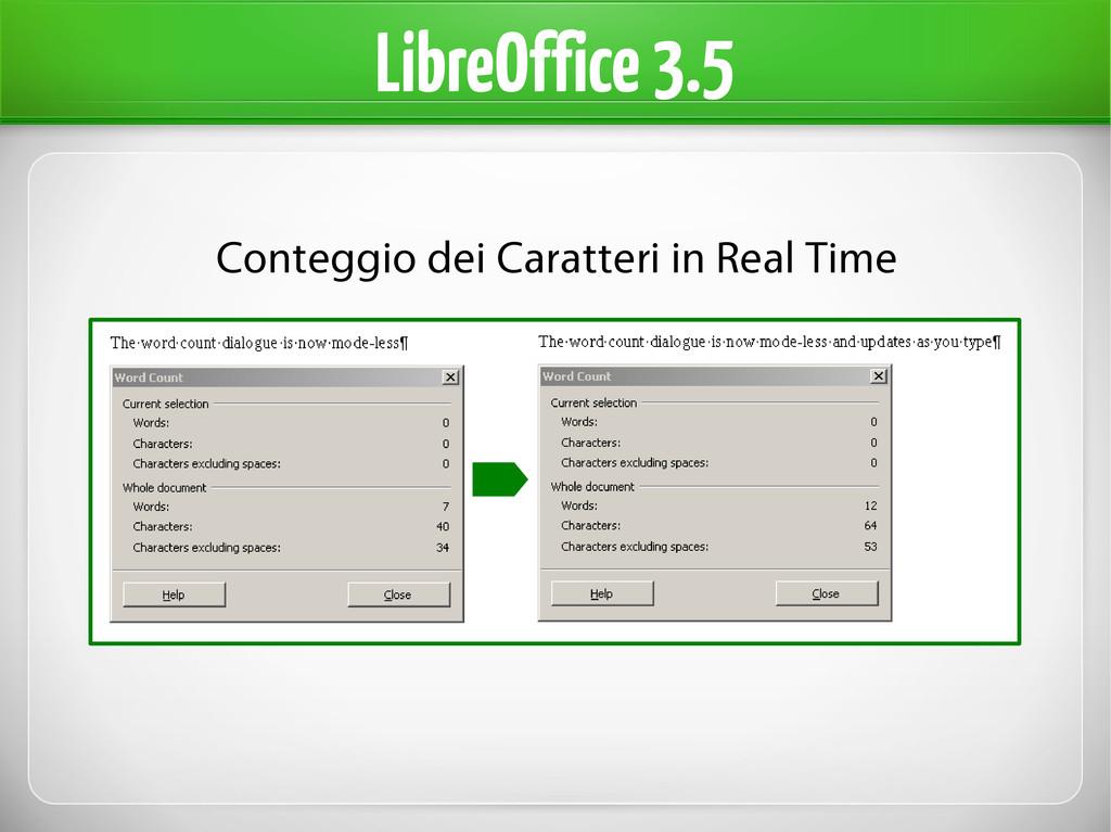 LibreOffice 3.5 Conteggio dei Caratteri in Real...