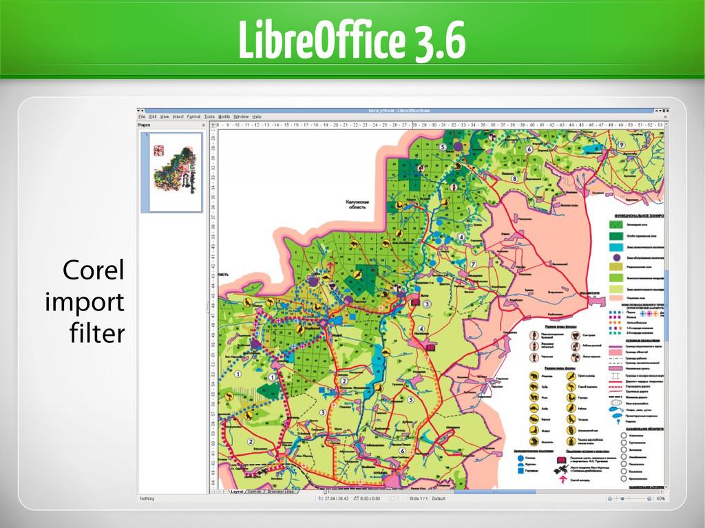 LibreOffice 3.6 Corel import filter