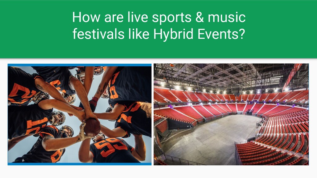 How are live sports & music festivals like Hybr...