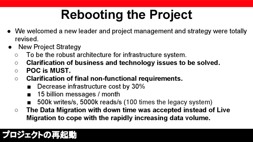 Rebooting the Project ● We welcomed a new leade...