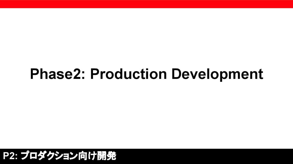 Phase2: Production Development P2: プロダクション向け開発