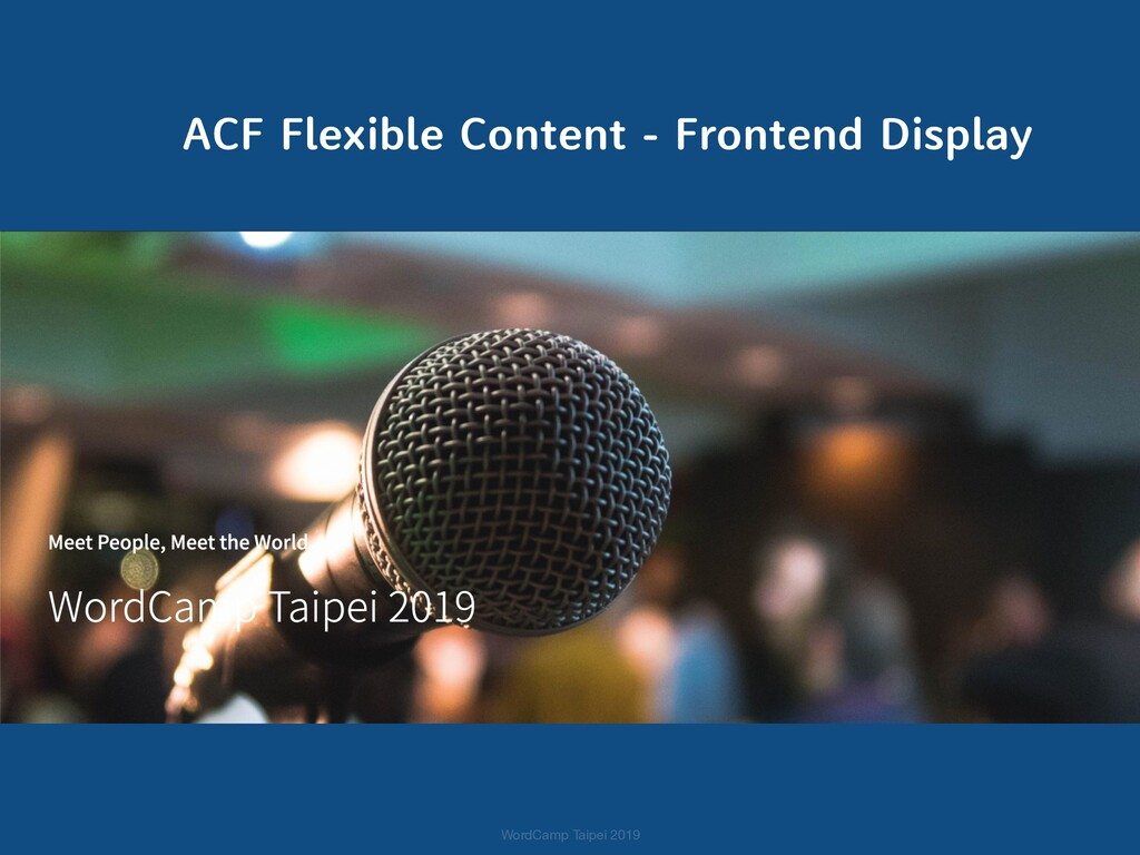 ACF Flexible Content - Frontend Display WordCam...