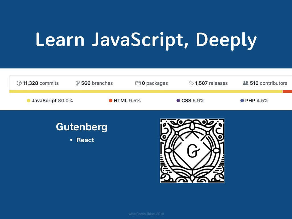 Learn JavaScript, Deeply Gutenberg • React Word...