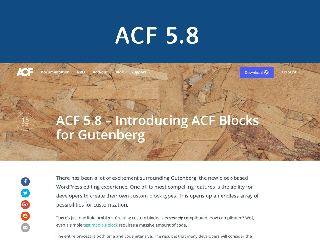 ACF 5.8 WordCamp Taipei 2019