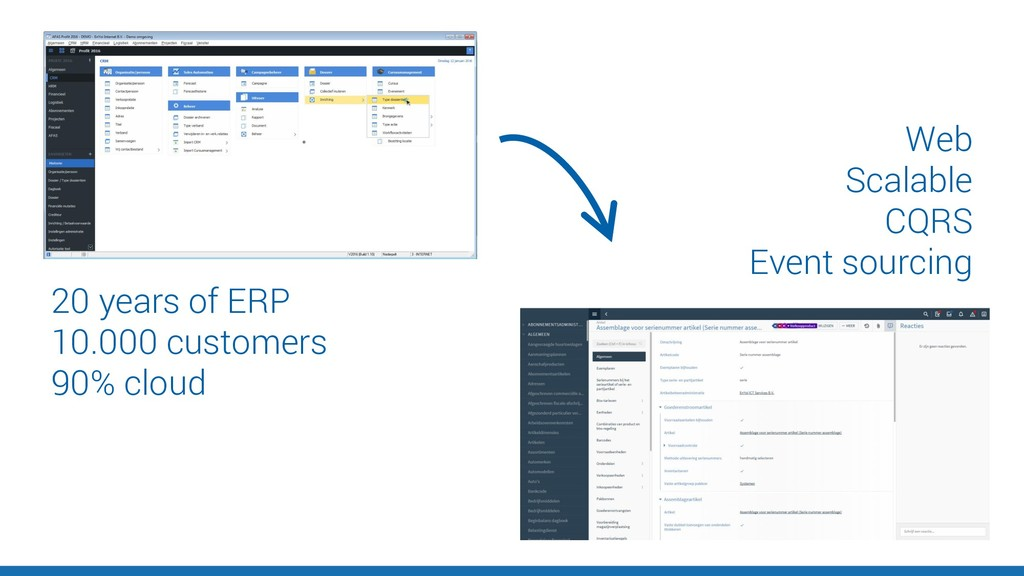 20 years of ERP 10.000 customers 90% cloud Web ...