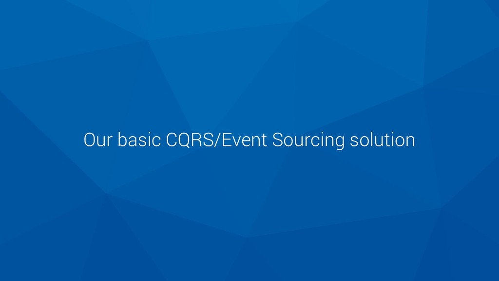 Our basic CQRS/Event Sourcing solution