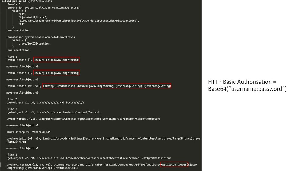 "HTTP Basic Authorisation = Base64(""username:pas..."