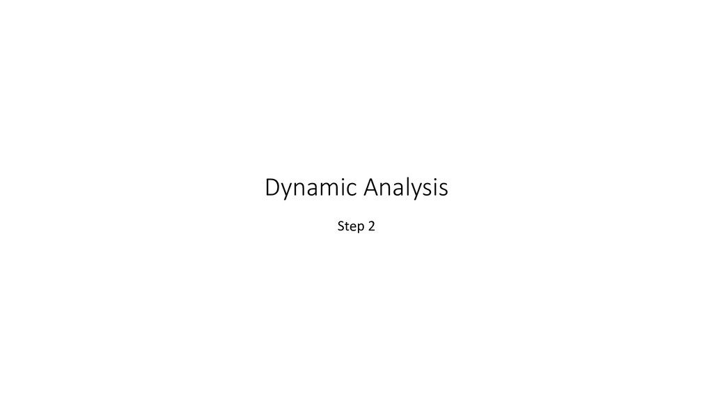 Dynamic Analysis Step 2