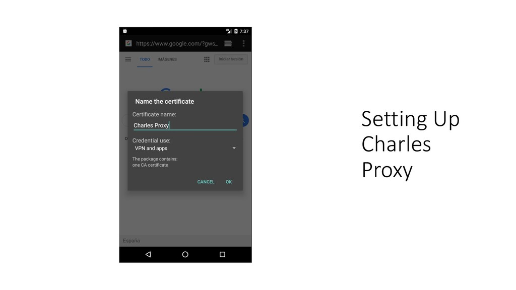 Setting Up Charles Proxy