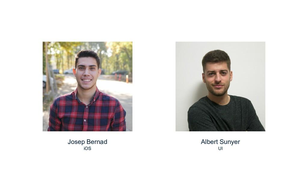 Josep Bernad iOS Albert Sunyer UI