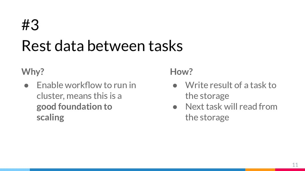 #3 Rest data between tasks 11 Why? ● Enable wor...