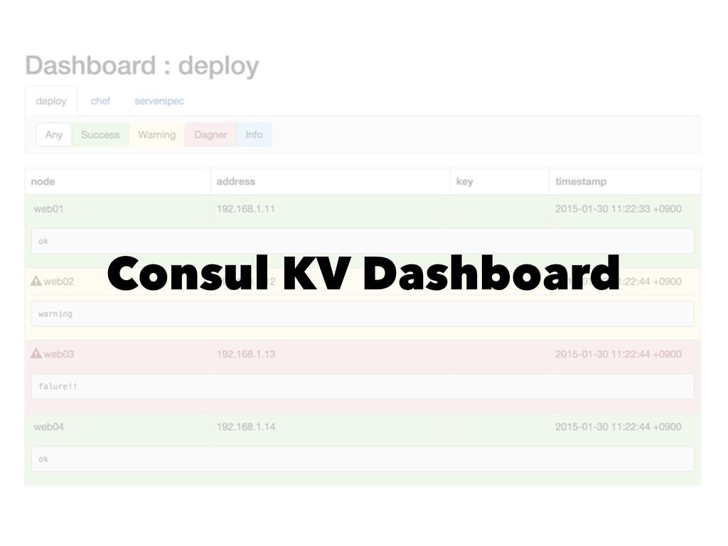 Consul KV Dashboard