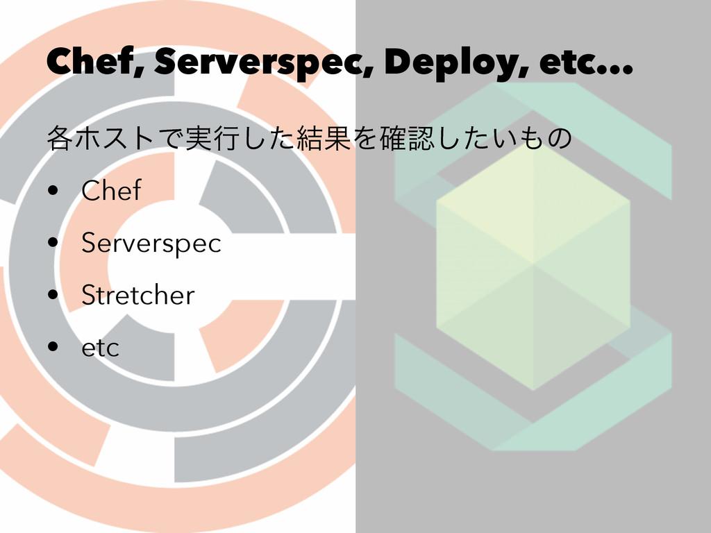 Chef, Serverspec, Deploy, etc... ֤ϗετͰ࣮ߦͨ݁͠ՌΛ֬...