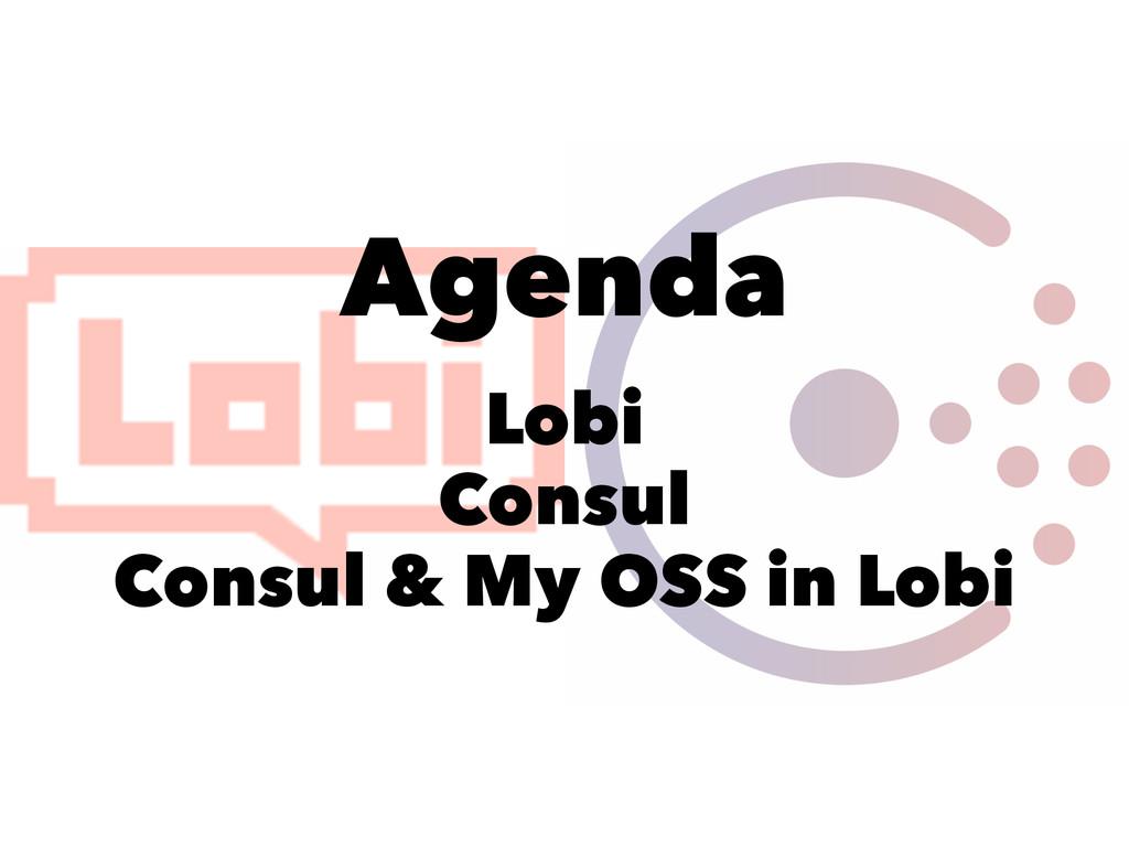 Agenda Lobi Consul Consul & My OSS in Lobi