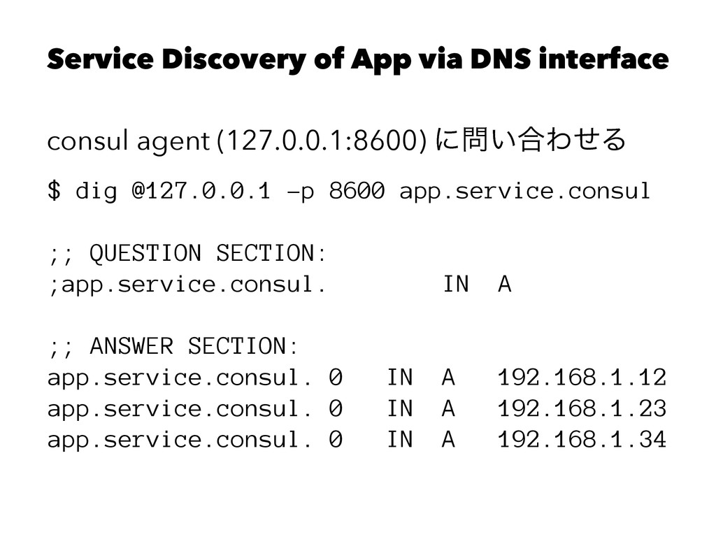 Service Discovery of App via DNS interface cons...