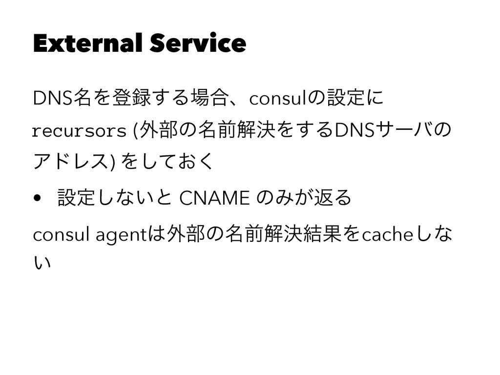 External Service DNS໊Λొ͢Δ߹ɺconsulͷઃఆʹ recurso...