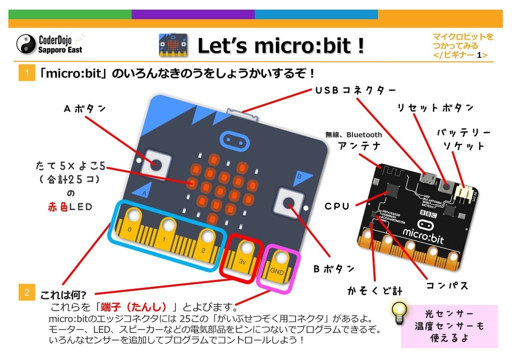 Let's micro:bit︕ マイクロビットを つかってみる </ビギナー 1> Scra...