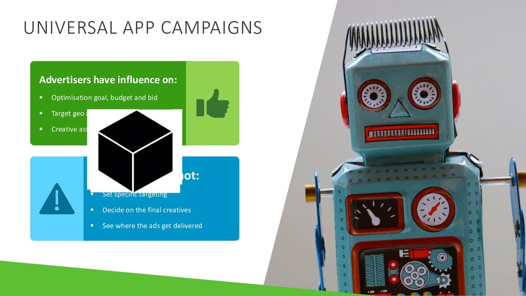 UNIVERSAL APP CAMPAIGNS Advertisers have influe...