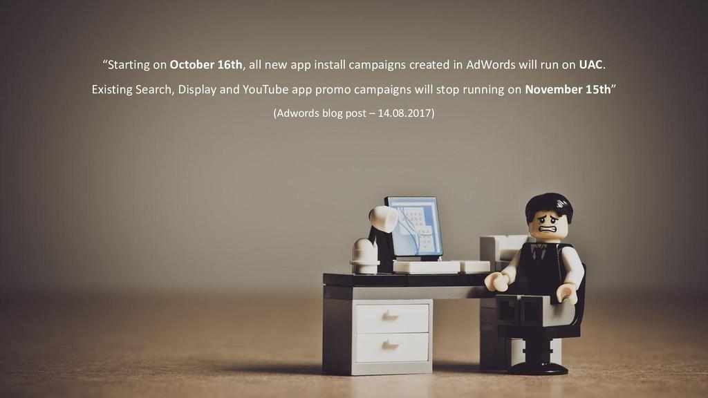"""""""Starting on October 16th, all new app install ..."""