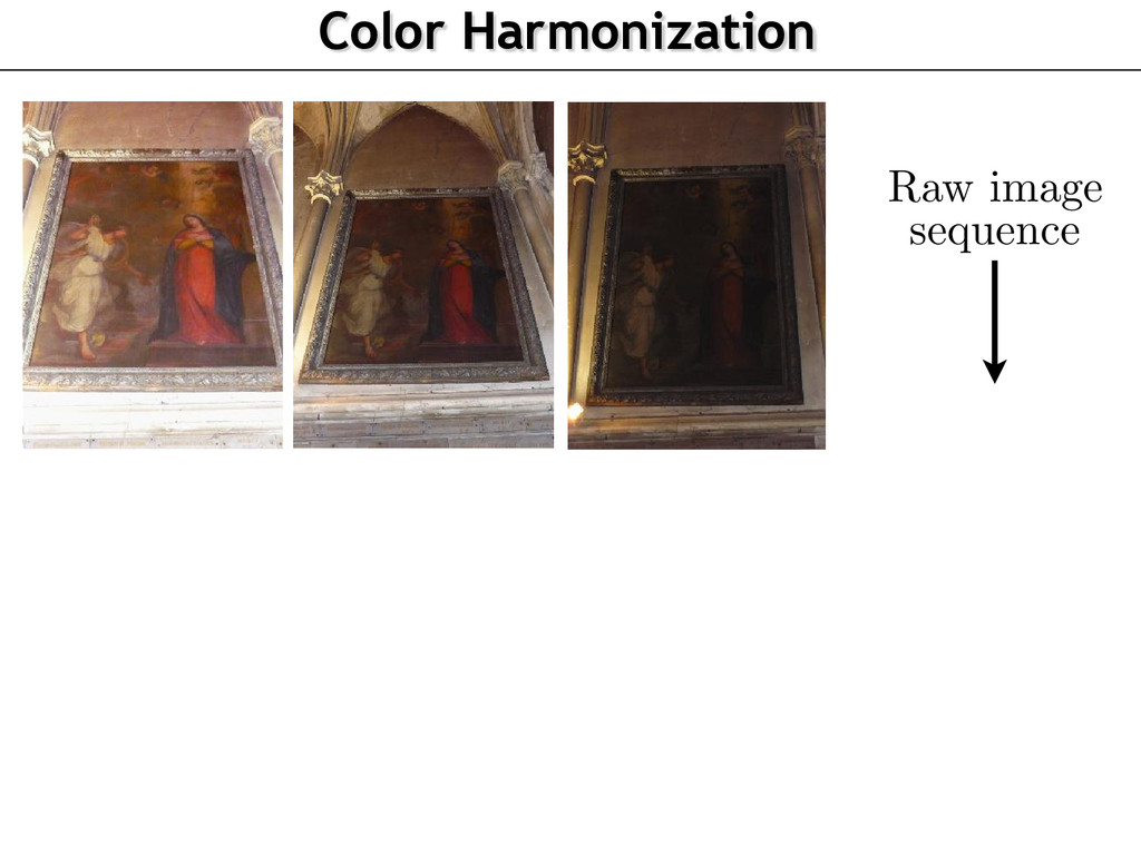 Raw image sequence Color Harmonization . Step 1...
