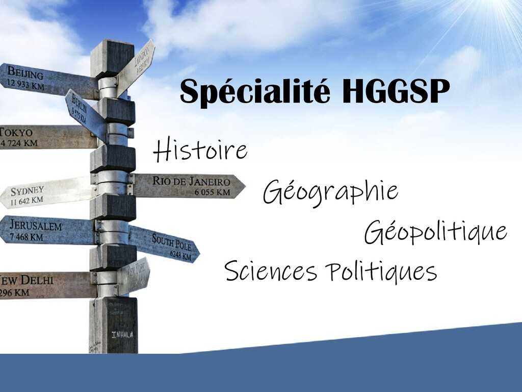 Spécialité HGGSP Histoire Géographie Géopolitiq...