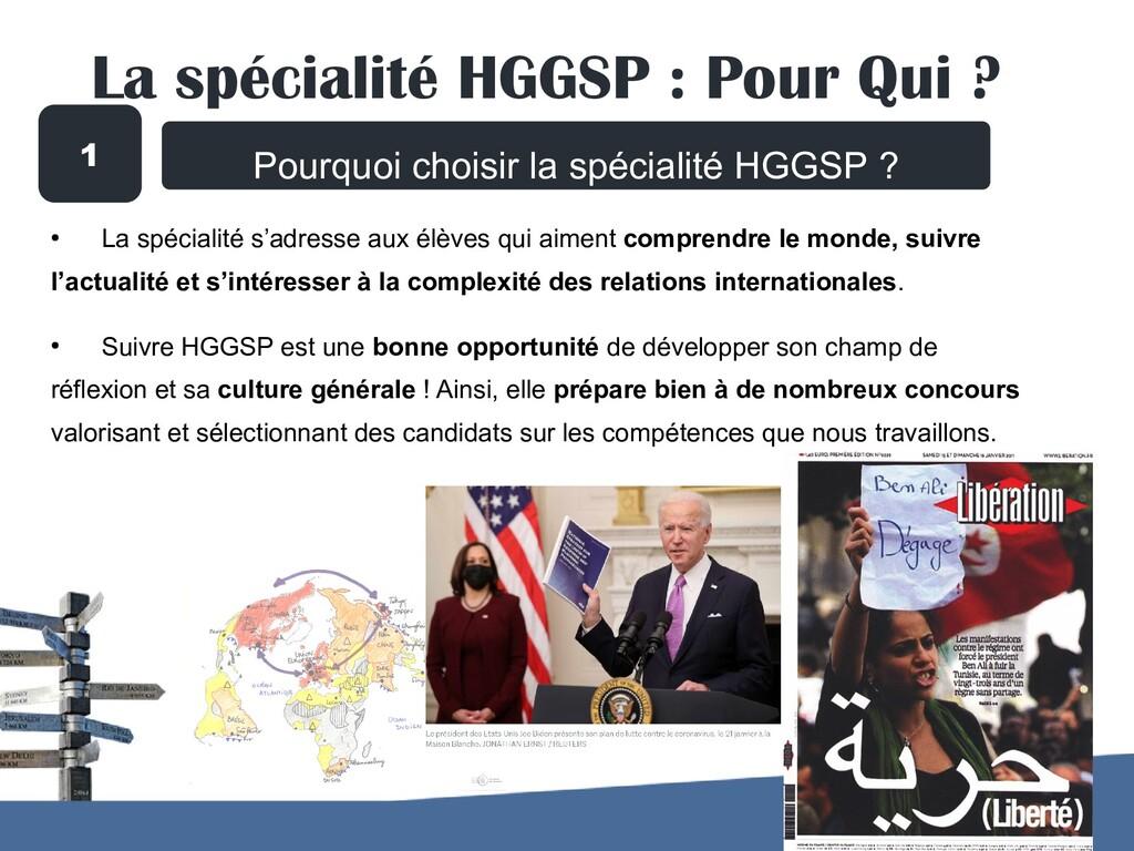 Pourquoi choisir la spécialité HGGSP ? ● La spé...
