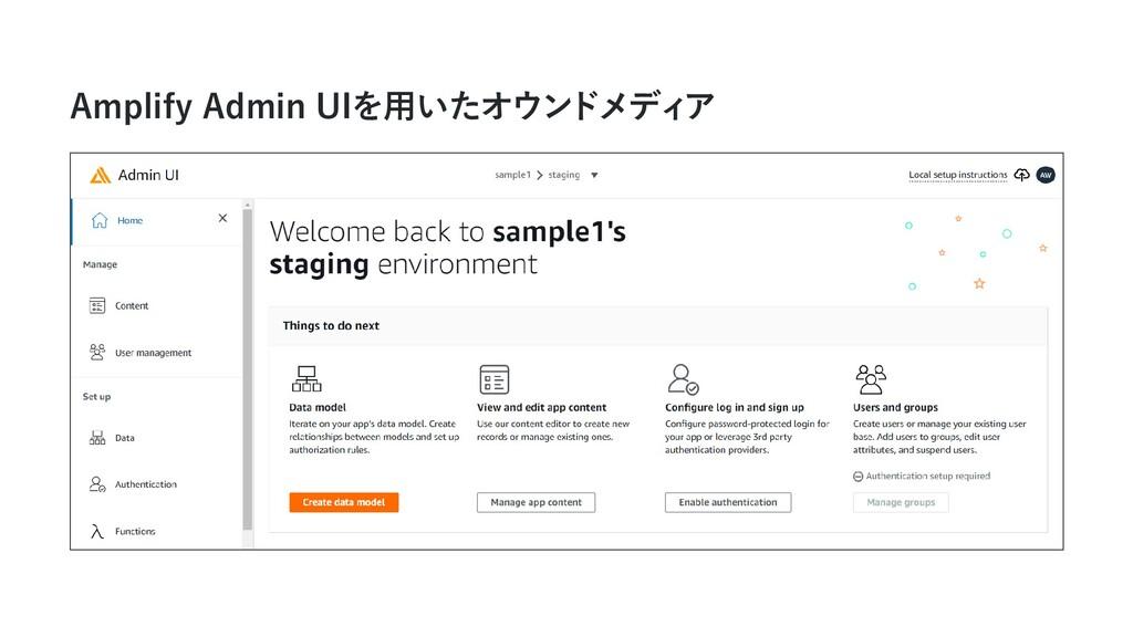 Amplify Admin UIを用いたオウンドメディ ア