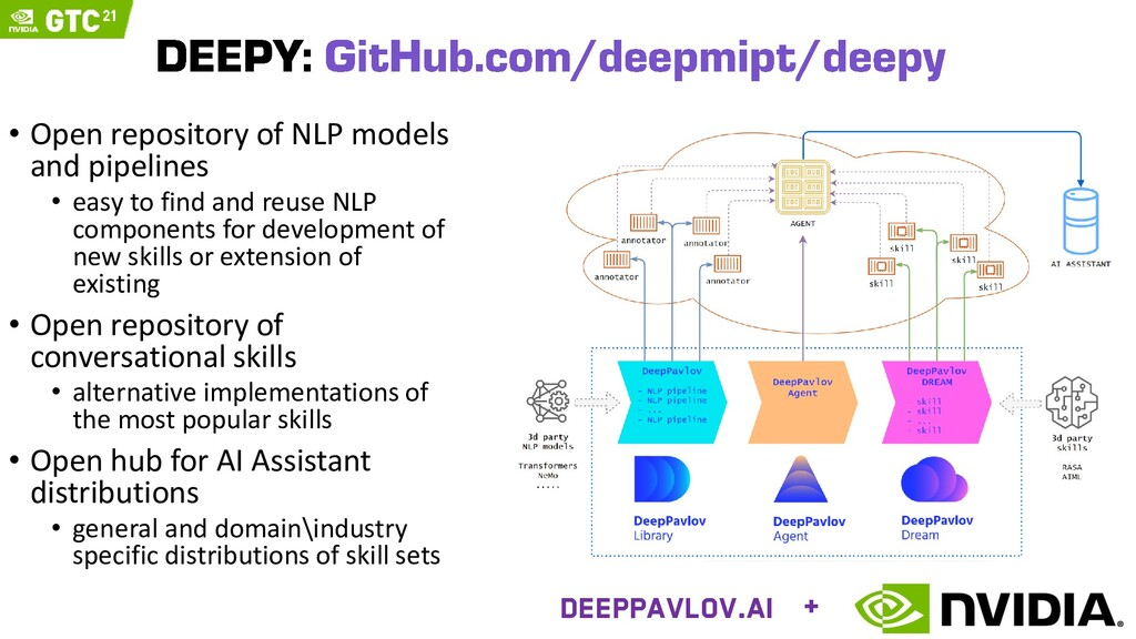 • Open repository of NLP models and pipelines •...