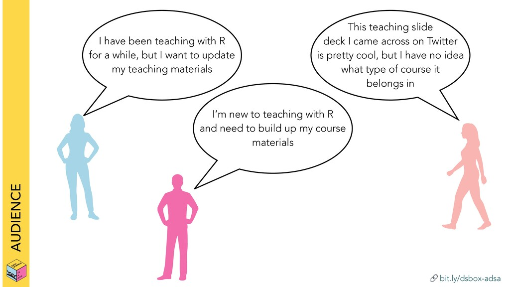 bit.ly/dsbox-adsa AUDIENCE I have been teachin...