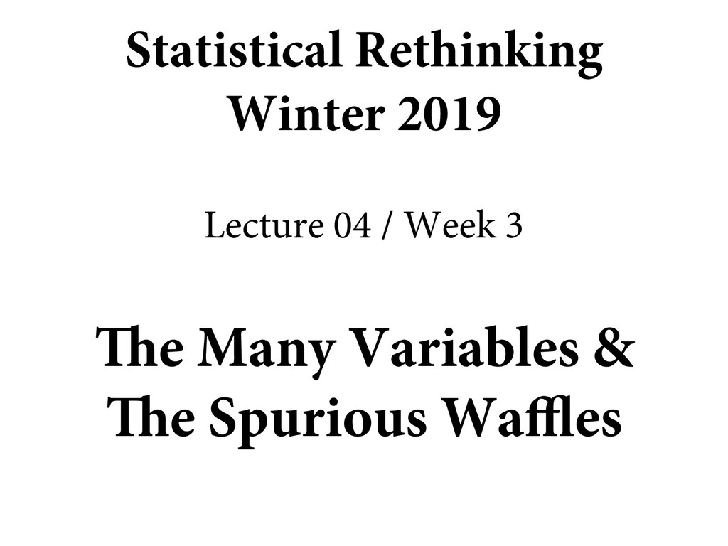The Many Variables & The Spurious Waffles Stati...