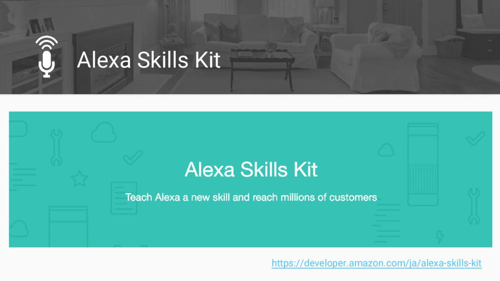 Alexa Skills Kit https://developer.amazon.com/j...