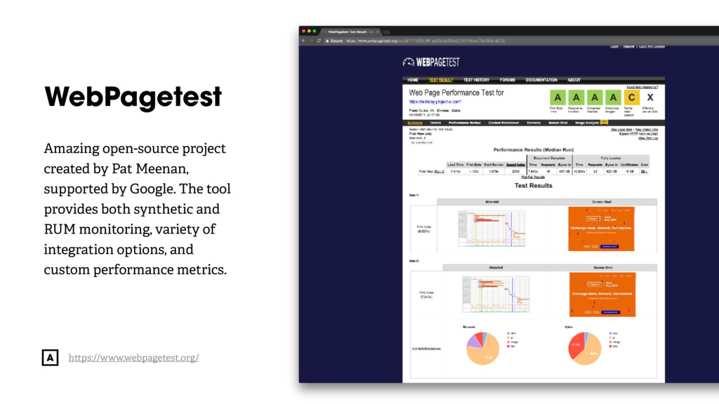 @radibit WebPagetest Amazing open-source projec...