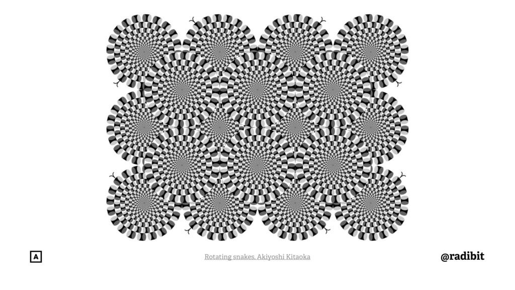 @radibit Rotating snakes, Akiyoshi Kitaoka