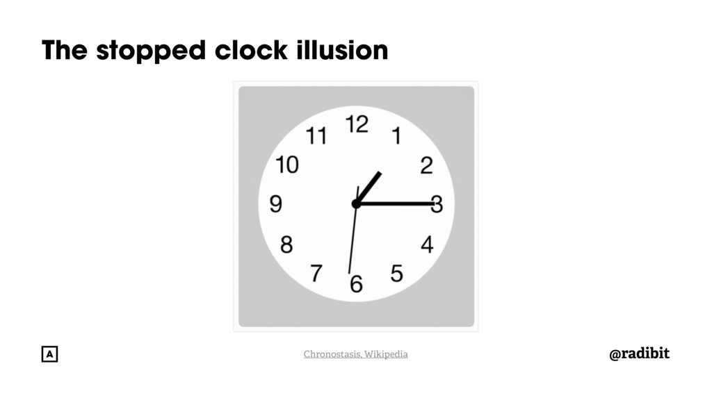 @radibit The stopped clock illusion Chronostasi...