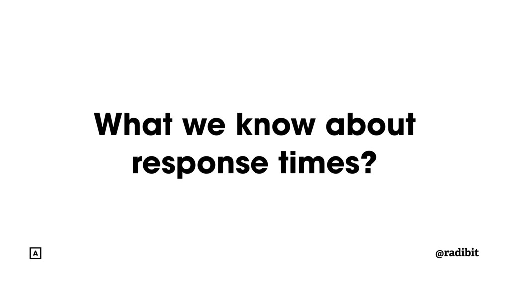 @radibit What we know about response times?
