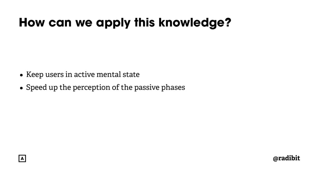@radibit How can we apply this knowledge? • Kee...
