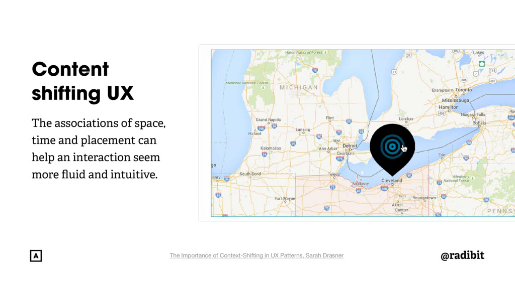 @radibit Content shifting UX The associations o...