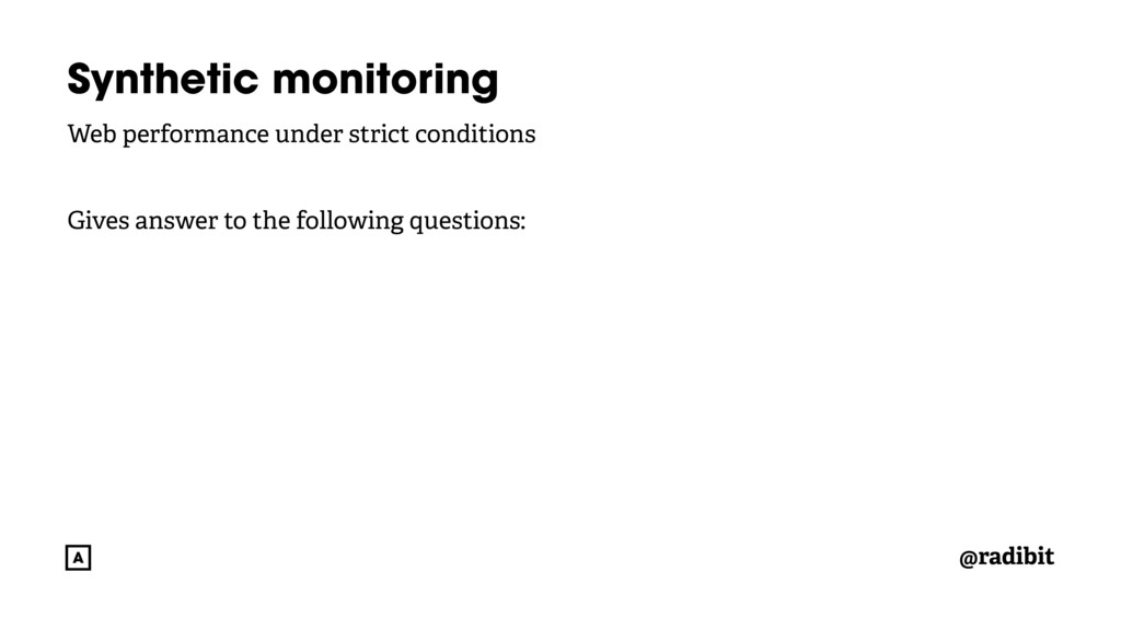 @radibit Synthetic monitoring Web performance u...