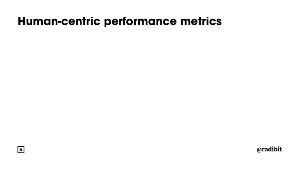 @radibit Human-centric performance metrics