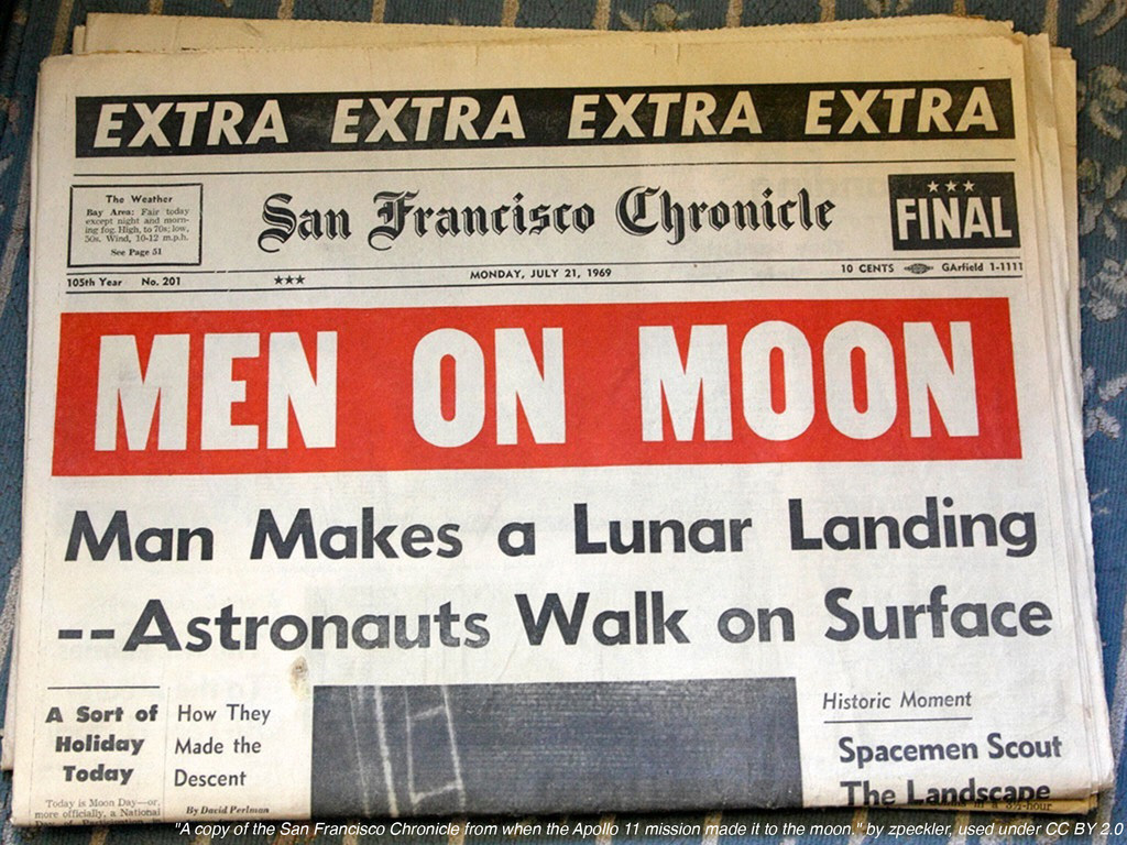 """""""A copy of the San Francisco Chronicle from whe..."""