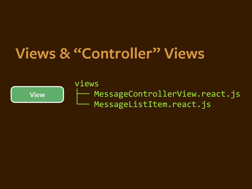 "Views & ""Controller"" Views View views  ├──..."