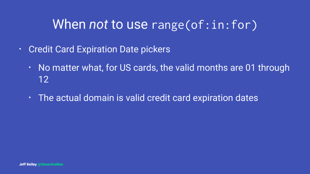 When not to use range(of:in:for) • Credit Card ...