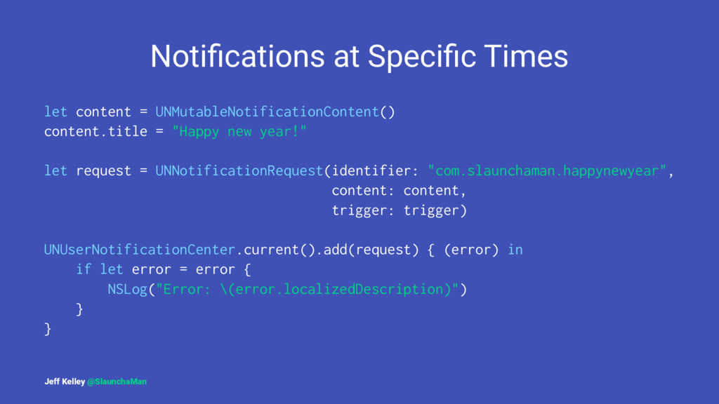 Notifications at Specific Times let content = UNM...