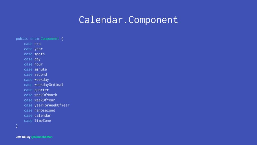 Calendar.Component public enum Component { case...