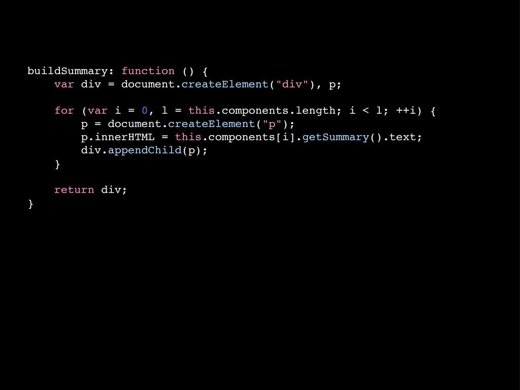buildSummary: function () { var div = document....