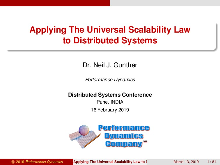 Applying The Universal Scalability Law to Distr...