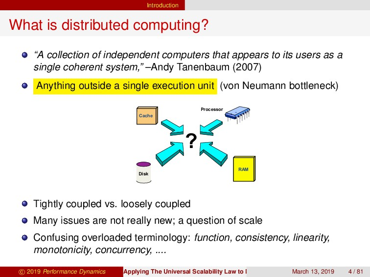 "Introduction What is distributed computing? ""A ..."