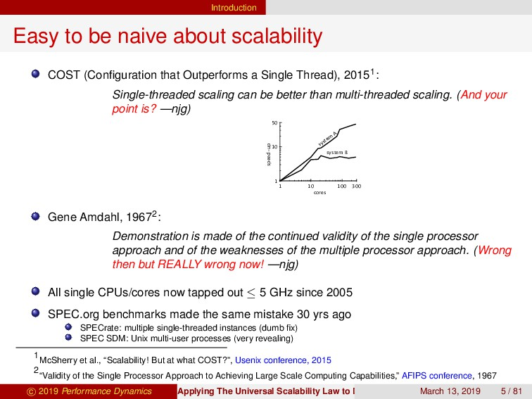 Introduction Easy to be naive about scalability...