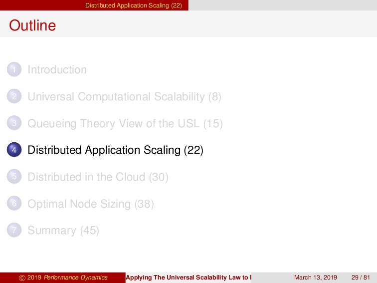 Distributed Application Scaling (22) Outline 1 ...